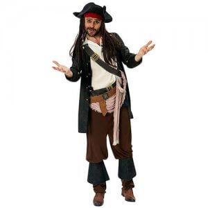 Pirat Captain Jack Sparrow Fluch der Karibik Kostüm