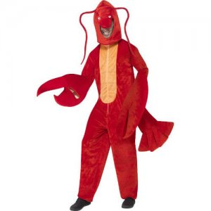 Ganzkörper Overall Lobster Kostüm Hummer