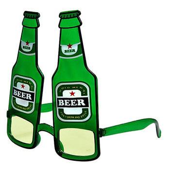 Bier Kapitän - grüne Bier Brille