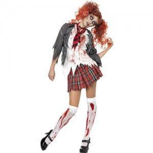 Grusel Schulmädchen Horror Zombie Damenkostüm