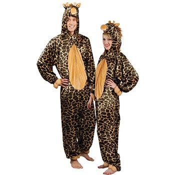 Giraffe schminken - Plüschkostüm
