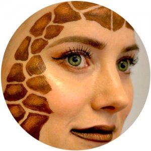 Giraffe schminken - Zoom 1