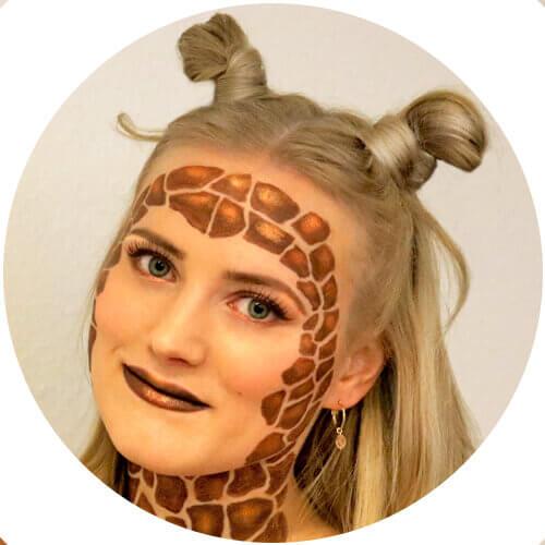 Giraffen Make-up - Zoom 2