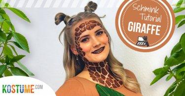 Giraffe schminken Headergrafik