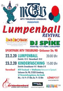 Lumpenball Lüneburg 2020 Plakat