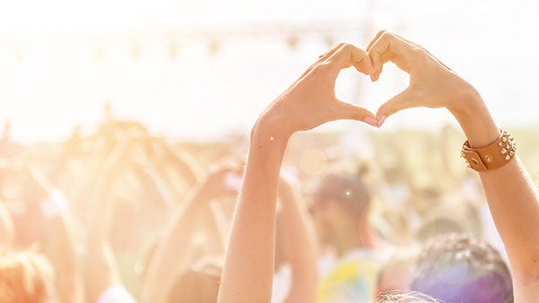 Festival Love Herzhand