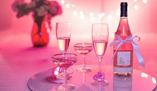 Pink Champagner Glaeser