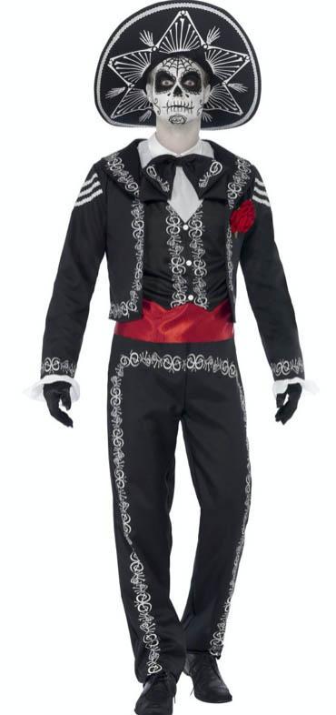 dia de los muertos kostüm herren