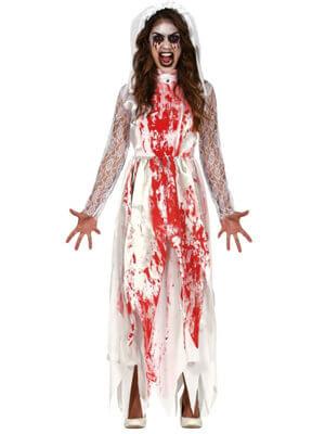 Horror blutüberströmtes Halloweenkostüm