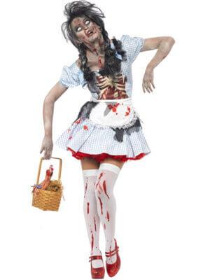 Zombie Rotkäppchen für Halloween Kostüm