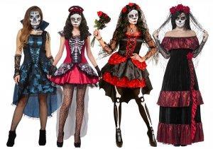 Tag der Toten La Catrina Damenkostüme