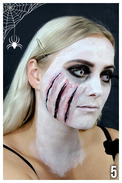 Halloween Wunden schminken anleitung