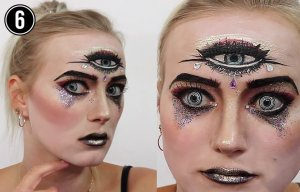 Wahrsagerin Make Up Tutorial drittes Auge