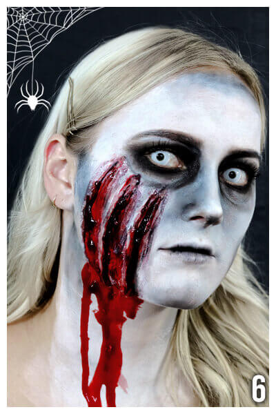 blutiges Horror grusel Makeup schminken