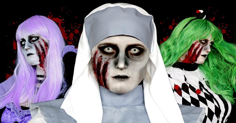 Horror Make Up für Halloween und verschiedene Kostümideen
