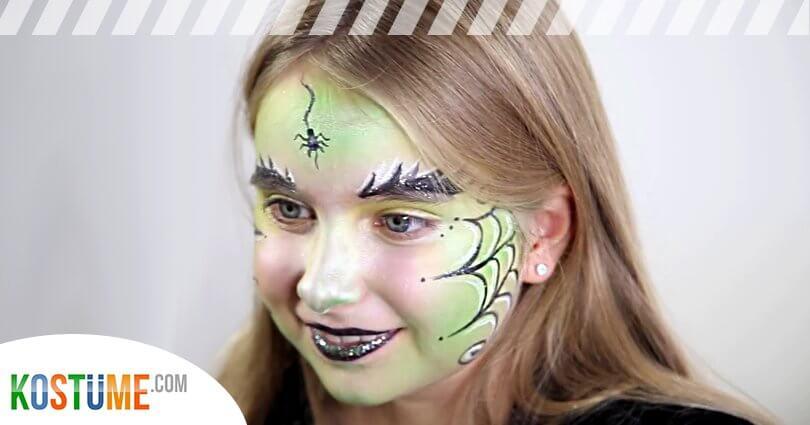 Kinder schminken Hexe Tutorial