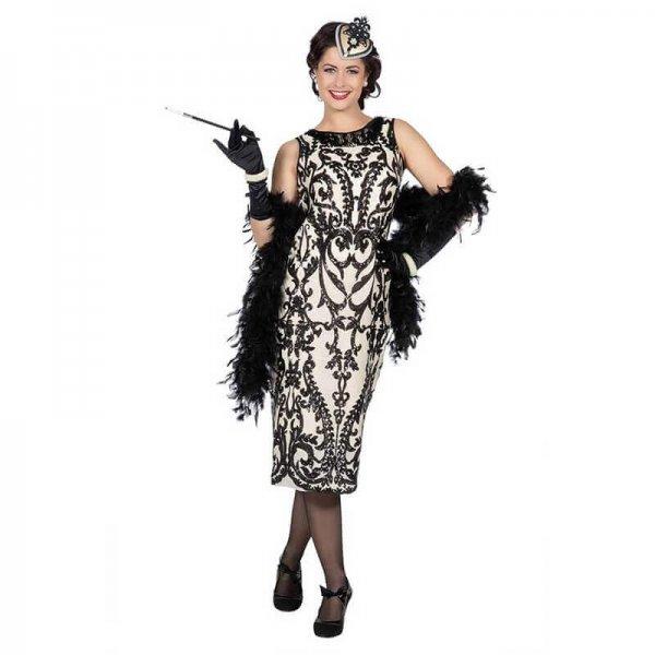 20er Jahre Gatsby Charlestonkleid lang