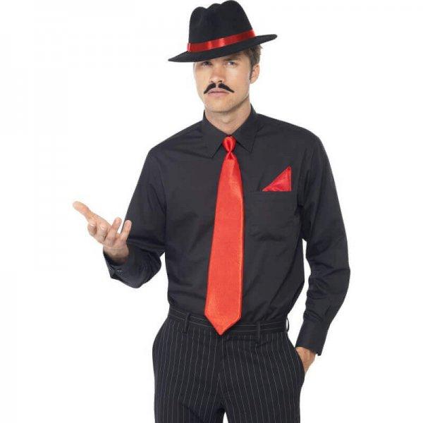 Gangster Kostüm Accessoires in rot