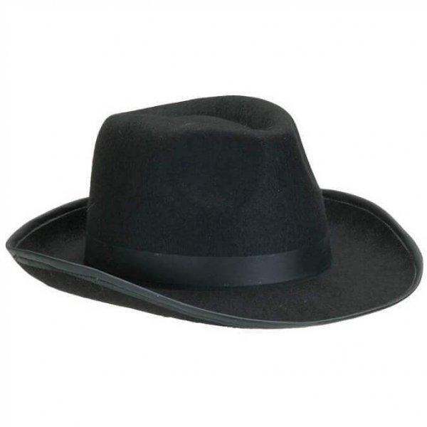 schwarzer Hut für Herrenkostüm