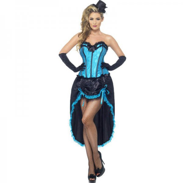 hellblaues Burlesque Kleid 20er Jahre für Damen