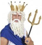 Neptun Antiker Gott Perücke mit Bart für Herren